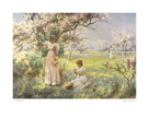 Spring, Picking Flowers by Alfred Augustus Glendening Jnr