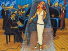 Jazz Orchestra in Blue by Marsha Hammel