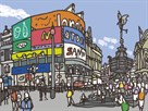 Piccadilly Circus by James Hobbs