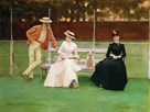The Tennis Match by Sir John Lavery