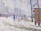 Snow, Boulevard de Clichy, Paris 1886 by Paul Signac