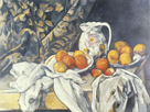 Still Life with a Curtain, c.1895 by Paul Cezanne