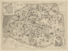 Rustic Paris Map by The Vintage Collection