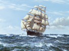 Racing Home - The 'Cutty Sark' by Montague Dawson