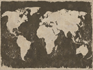 World Map - Rustic by Paul Duncan