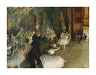 The Rehearsal of the Ballet Onstage, c.1874 by Edgar Degas