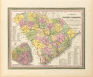 A New Map of South Carolina, 1850 by S.A. Mitchell