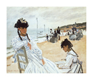 La Plage a Deauville by Claude Monet