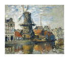The Windmill on the Onbekende Gracht, Amsterdam, 1874 by Claude Monet