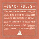 Beach Rules - Coral - Detail by The Vintage Collection
