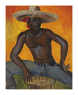 Man in a Straw Hat II by Boscoe Holder