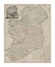 A Map of the Kingdom of Ireland, Divided into Provinces, 1794 by John Rocque