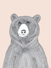 Linear Friends - Bear by Virginia Kraljevic