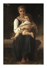 Two Sisters by William Adolphe Bouguereau