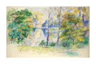 View of a Park by Pierre Auguste Renoir