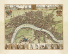 A Map of London, 1688 by Wenceslaus Hollar