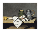 Still Life with Green Pot and Pewter Jug by Paul Cezanne