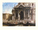 Gondolas By The Salute - Venice by Edward Seago
