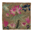 Cushion Cover, Pink Lotus and Fish by Oriental School