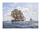Before Trafalgar - R.N. Frigates Watch Off Cadiz by Roy Cross