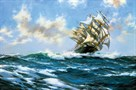 Sun-Flecked Foam - The 'Barnabas Webb' by Montague Dawson