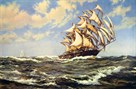 Wind In Her Sails by Montague Dawson