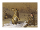 Rabbit and Bullfinch by Archibald Thorburn
