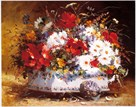 Still Life of Spring Flowers by Eugene Cauchois