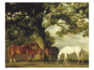 Green Pastures (A Family Group) - Detail by George Stubbs