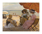 La Plage by Alfred Victor Fournier
