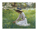 A Girl Picking Flowers by Arthur Hacker