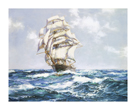 The Blue Seas - The 'Eliza Bars's' by Montague Dawson
