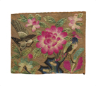 Cushion Cover, Pink Lotus and Birds by Oriental School