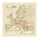 Map of Europe by The Vintage Collection