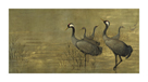 Grey Cranes by Helene Whitwell