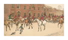 The Cottesbrook Hunt (The Meet at the Swan) by Cecil Aldin
