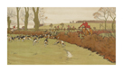 The Cottesbrook Hunt (Nearing the End) by Cecil Aldin