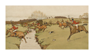 The Cottesbrook Hunt (The Brook) by Cecil Aldin