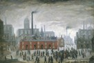 An Accident by L.S. Lowry