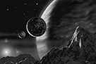 Exoplanet - Noir by David A Hardy