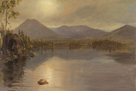 Mounts Katahdin and Turner from Lake Katahdin, Maine by Frederic Edwin Church