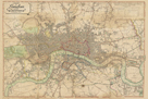 Map of London, 1813 by The Vintage Collection