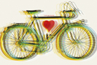 I Love You Bicycle by Urban Octopus