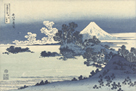 Seven Mile Beach in Sagami Province by Katsushika Hokusai