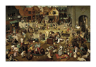 The Fight Between Carnival and Lent by Pieter Bruegel the Elder