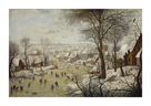 Winter Landscape with a Bird Trap by Jan Brueghel the Younger