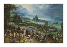 Harbour Scene with Christ preaching by Pieter Bruegel the Elder