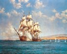 The Smoke of Battle by Montague Dawson