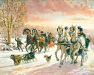 Sleigh Race by Alan Maley