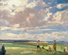 Lady Astor Playing Golf At North Berwick by Sir John Lavery